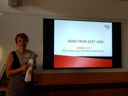 Vendor presentations (chair: Mel Bach). Zina Somova from Eastview